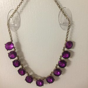 Purple Stone Choker Necklace